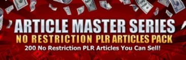 No Restriction PLR Articles Pack: Vol 24 +BONUSes!